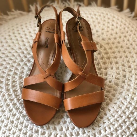 2841af31a4 Clarks Shoes | Strappy Heels | Poshmark